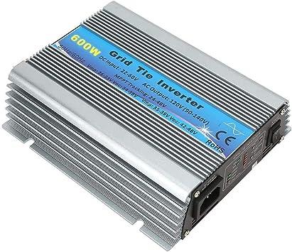 Grid Tie Solar Inverter 600W Grid Tie Pure Sine Waves Household Solar Power Inverter 22-60V for Industrial Home Impprovement AC 100-120V