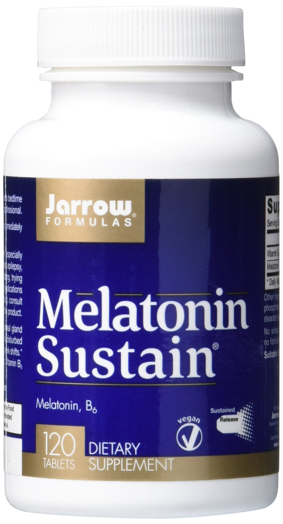 Amazon.com: Jarrow Formulas Melatonin Sustained 1mg, Brain and ...