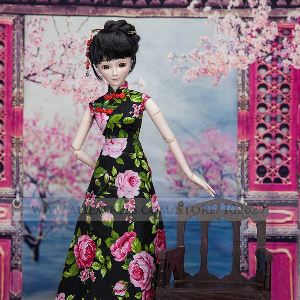 Chinese Cheongsam Donna 1/3 SD Doll 60cm 24'' Ball Jointed BJD Dolls Full Set Reborn Toy SD Surprise Doll by EVA BJD (Image #4)
