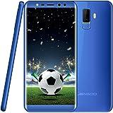 Cellulari in Offerta, Leagoo M9 Smartphone Dual SIM-5.5 Pollici(18:9), 8MP Quattro Fotocamera, 16GB ROM+2GB RAM, 3G Telefoni Quad Core, Impronte Digitali, Android 7.0, 2850mAh, Telefonia Mobile, Blu