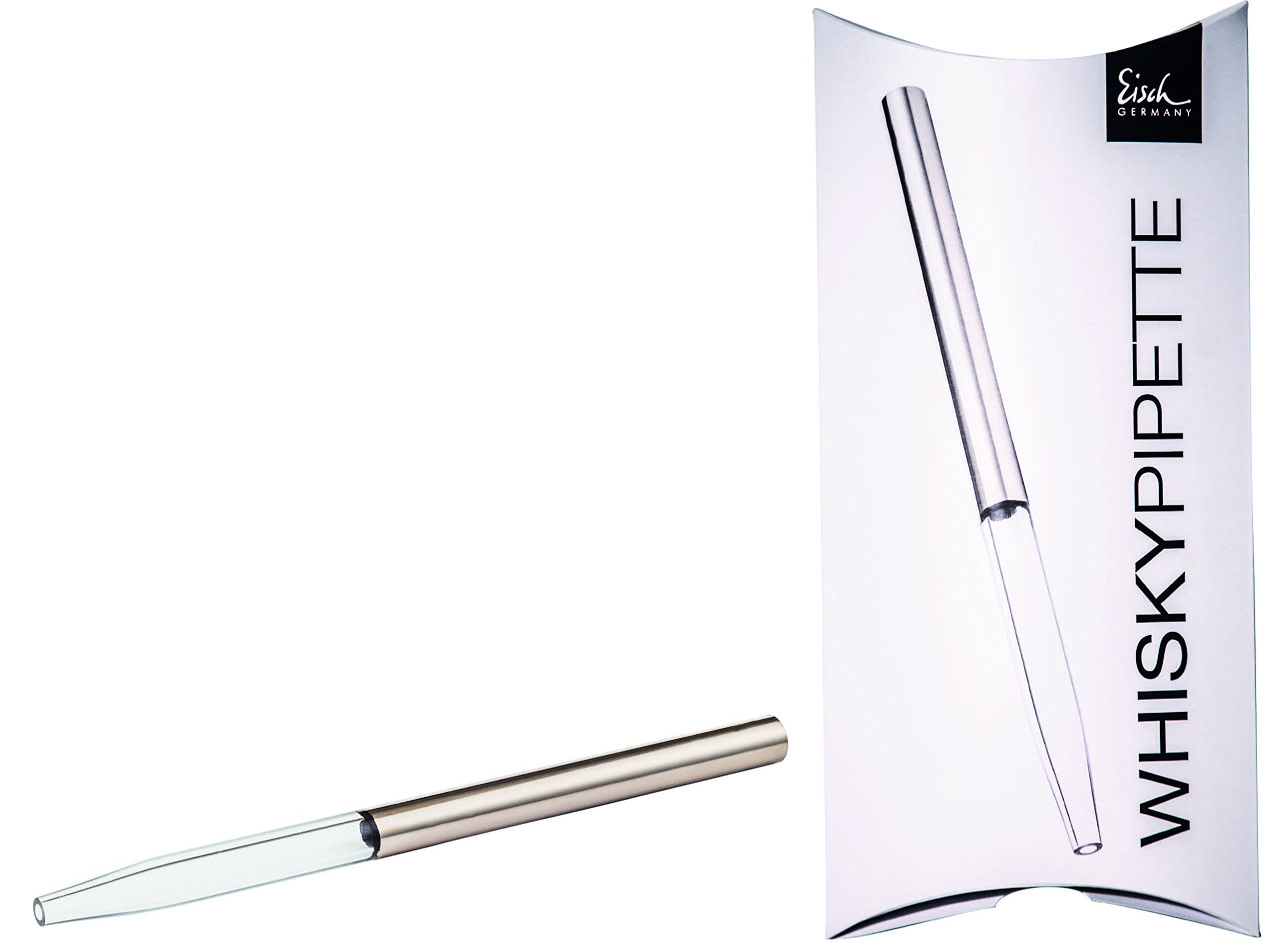 Eisch Whiskey Pipette Water Dropper for Whiskey and Scotch, Platinum