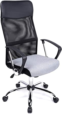 Executive maille chaise de bureau ergonomique ordinateur de bureau pivotant réglable haut dossier