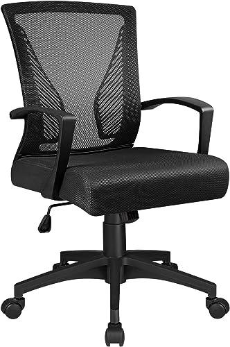 Tuoze Ergonomic Office Mid Back Mesh Chair Swivel Desk Chair Lumbar Support Computer Chair