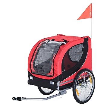 Pawhut Fahrradanhänger Hundeanhänger Hunde Fahrrad Tier Anhänger