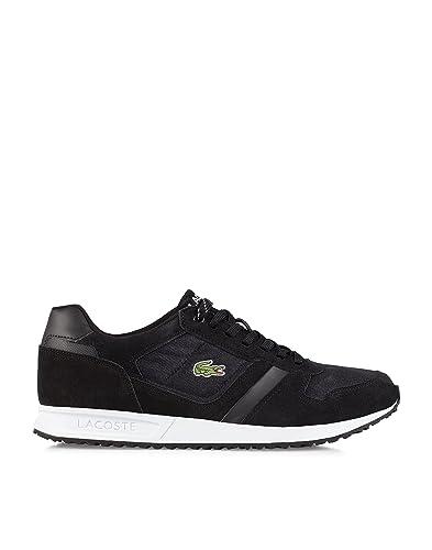 7e36d7dd3 Lacoste Mens Vauban Low Tied Cloth Black Shoes Trainers Black Size ...
