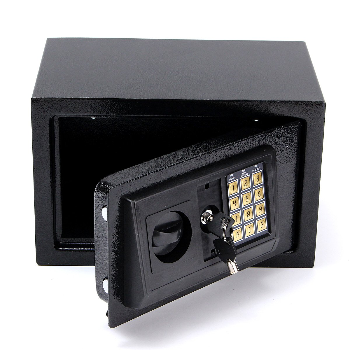 SAFETYON Electronic Security Safes Lock Box Case with Lock and Keys Jewelry Cash Gun Box