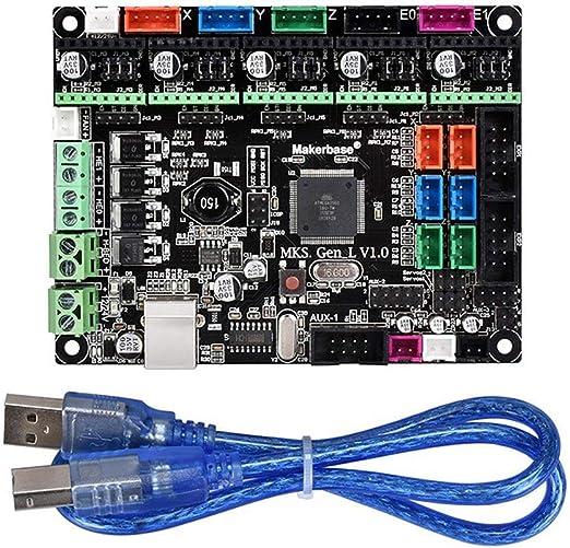 Volwco Tablero de Control de Impresora 3D MKS Gen L V1.0 Ramps1.4 ...
