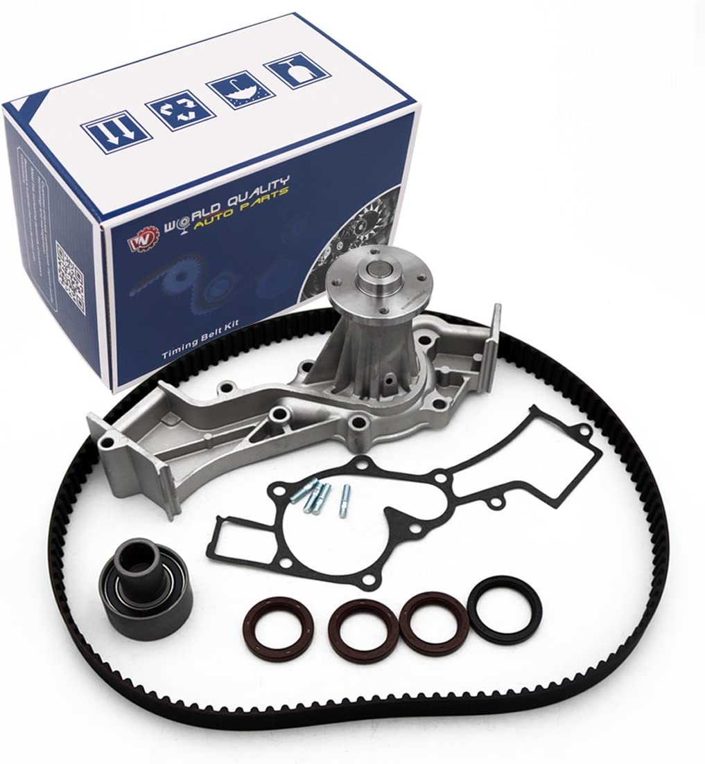 ECCPP Timing Belt Water Pump Kit Fit for 1996-2004 Nissan Frontier Xterra Pathfinder Infiniti QX4 3.3L V6 SOHC 12 Valve VG33E VG33ER Engine