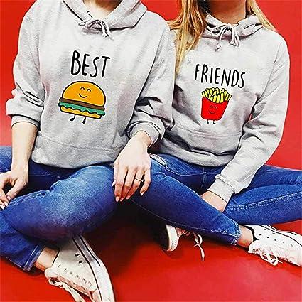 Best Friends Pullover f/ür Zwei M/ädchen Bestie Squad Hoodie f/ür Sister Freundin Schwester Kapuzenpullover Beste Freunde Pulli BFF Geschenke
