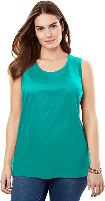 Woman Within Womens Plus Size Perfect Tank Top
