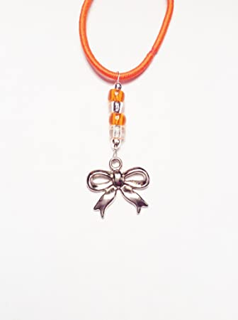 d3182729c Orange Silver Bow Cheer Charm Mini TagTailz Unique Fashion Accessory Gifts  For Girls - Gifts for