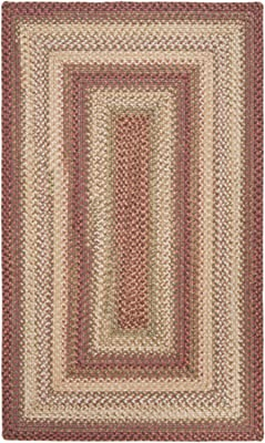Diva At Home 5' x 8' Countryside Chic Salmon Red Reversible Braided Area Throw Rug