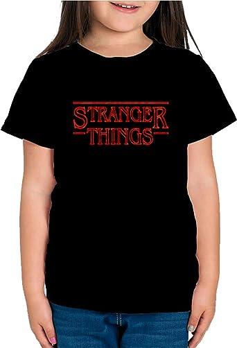 Camiseta de NIÑAS Stranger Things Once Series Retro 80 Eleven Will 004: Amazon.es: Ropa y accesorios