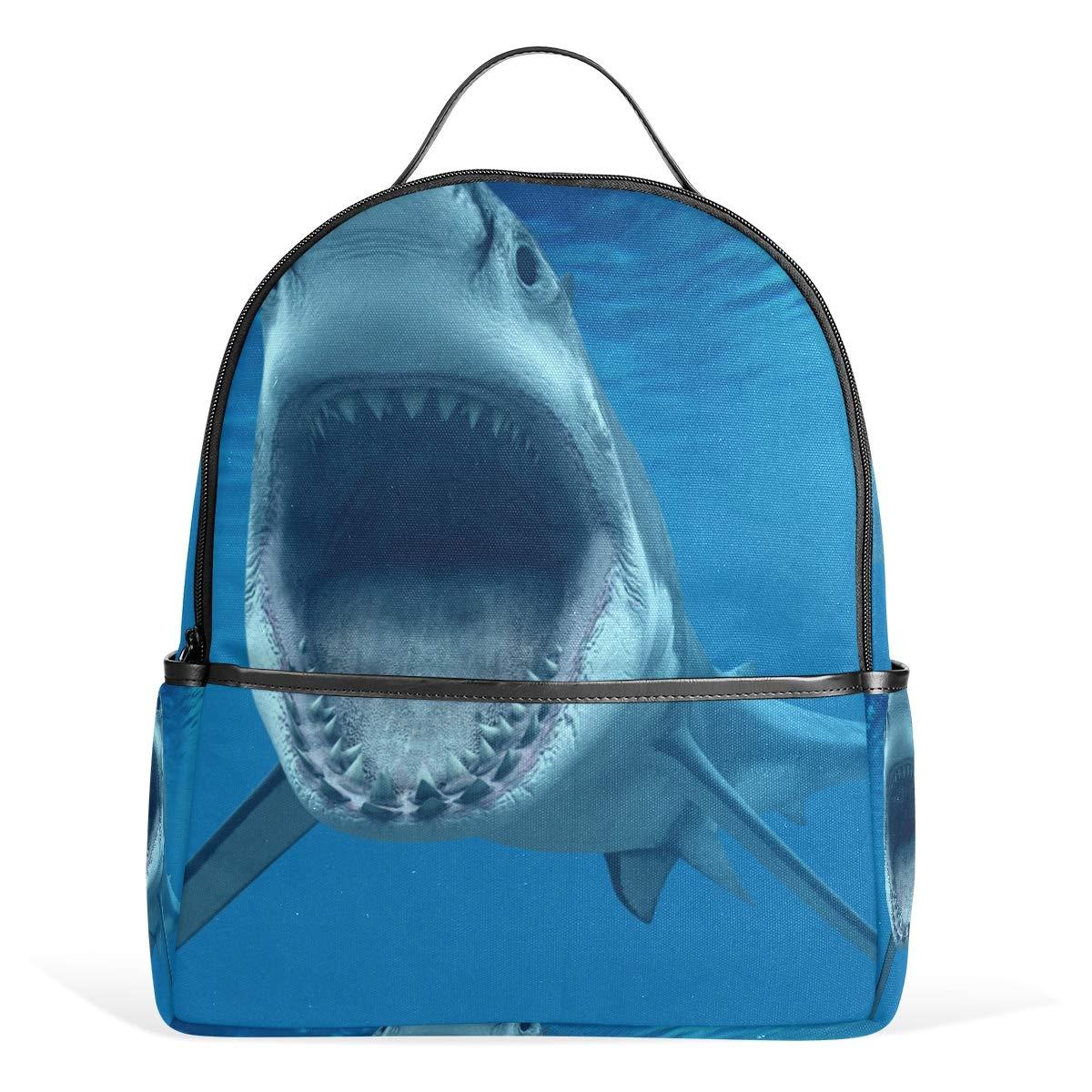 スクールバックパック サメ旅行バッグ ティーンエイジャー用 男の子 女の子用   B07G9D5C4N