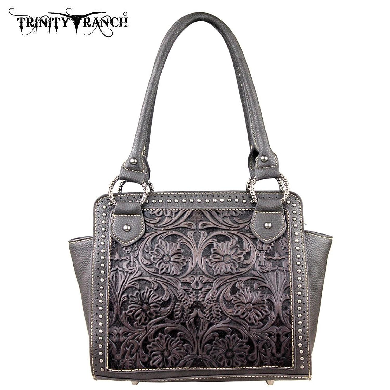 TR18-L8250 Montana West Trinity Ranch Tooled Design Collection Handbag