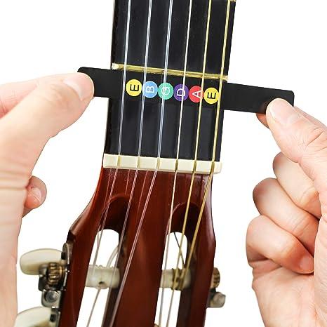 juconiromusic Guitarra Notas de pegatinas para el diapasón Incluye S de portatil para principiantes y expertos