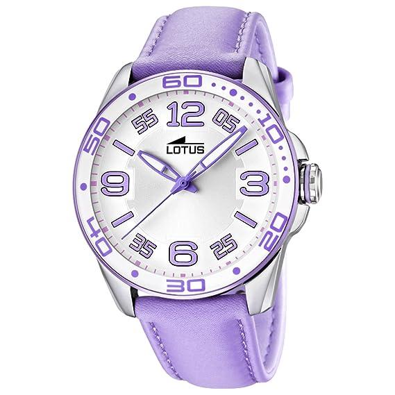 Lotus 15783/2 - Reloj analógico de cuarzo para mujer con correa de piel, color rosa: Lotus: Amazon.es: Relojes