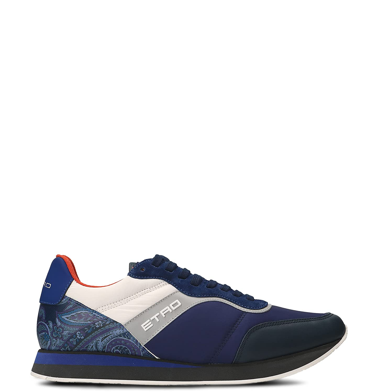 Etro メンズ 120413116200 ブルー 革 運動靴 B07DMLGXCX
