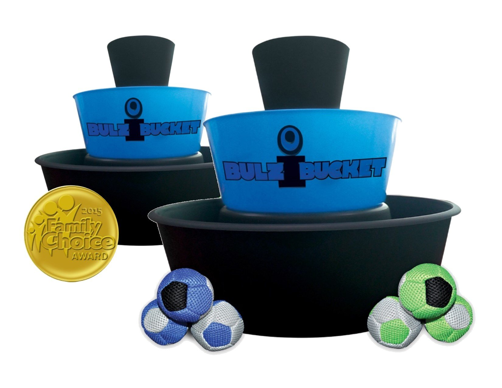 BULZiBUCKET Blue - Next Generation Cornhole - Indoor/Outdoor/Pool Game !!! by BULZiBUCKET