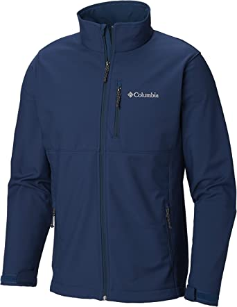 Columbia Men's Black Ascender Water Resistant Softshell Zip Up Jacket