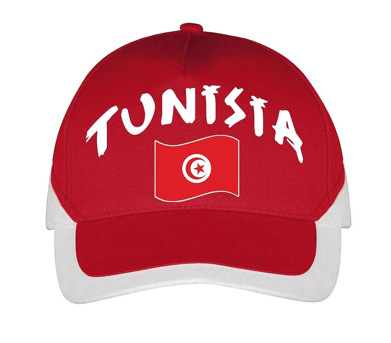 Supportershop Tunesien Cap Fußball, Rot, FR: Einheitsgröße (Größe Hersteller: Größe One sizeque)