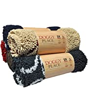 My Doggy Place - Ultra Absorbent Microfiber Dog Door Mat, Durable, Quick Drying, Washable, Prevent Mud Dirt, Keep Your House Clean (Oatmeal w/ Paw Print, Medium) - 31 x 20 inch by My Doggy Place