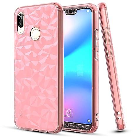 design di qualità 5d811 c14ec LeYi Custodia Huawei P20 Lite Bumper, 360 Gradi Full Cover Silicone  Trasparente Slim 3D Thin Gel Case Originale TPU Smartphone Protettiva  Casing per ...