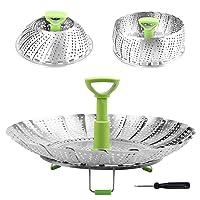 Steamer Basket Stainless Steel Vegetable Steamer Basket Folding Steamer Insert for...