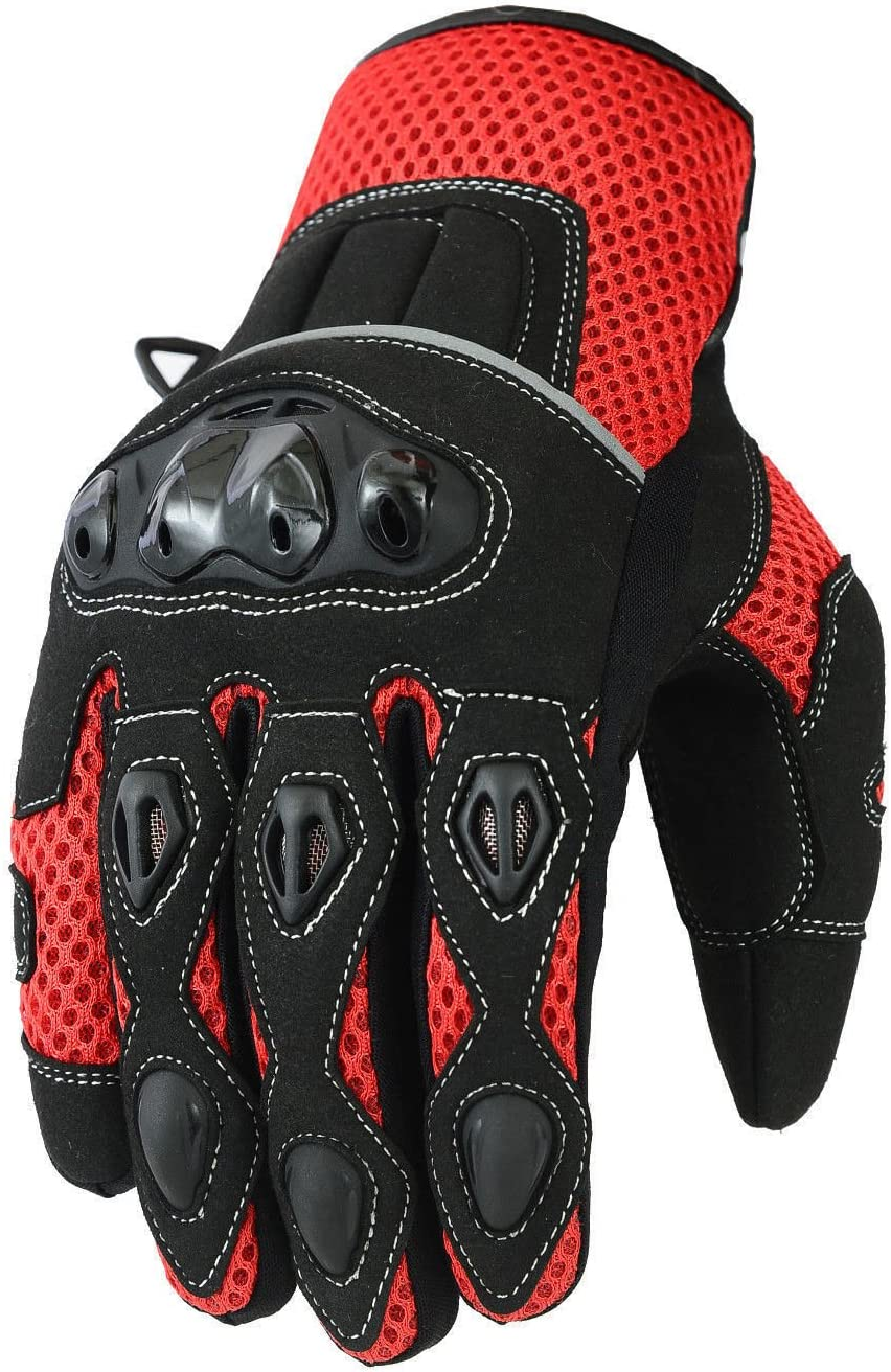 Black S Short Summer Mens Motorbike Motorcycle Gloves Mountain Riding Bike Sports Glove