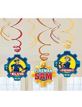 COOLMP - Juego de 12 Colgantes en Espiral Sam El Bombero ...