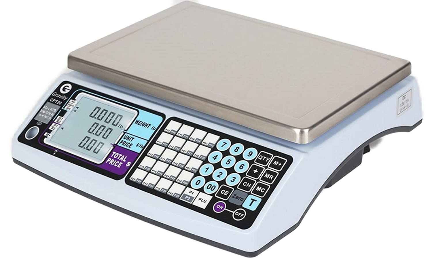 NTEP Legal for Trade Price Computing Scale, 3lb / 6lb Capacity, 0.001lb / 0.002lb Readability, Dual Range for Added Accuracy