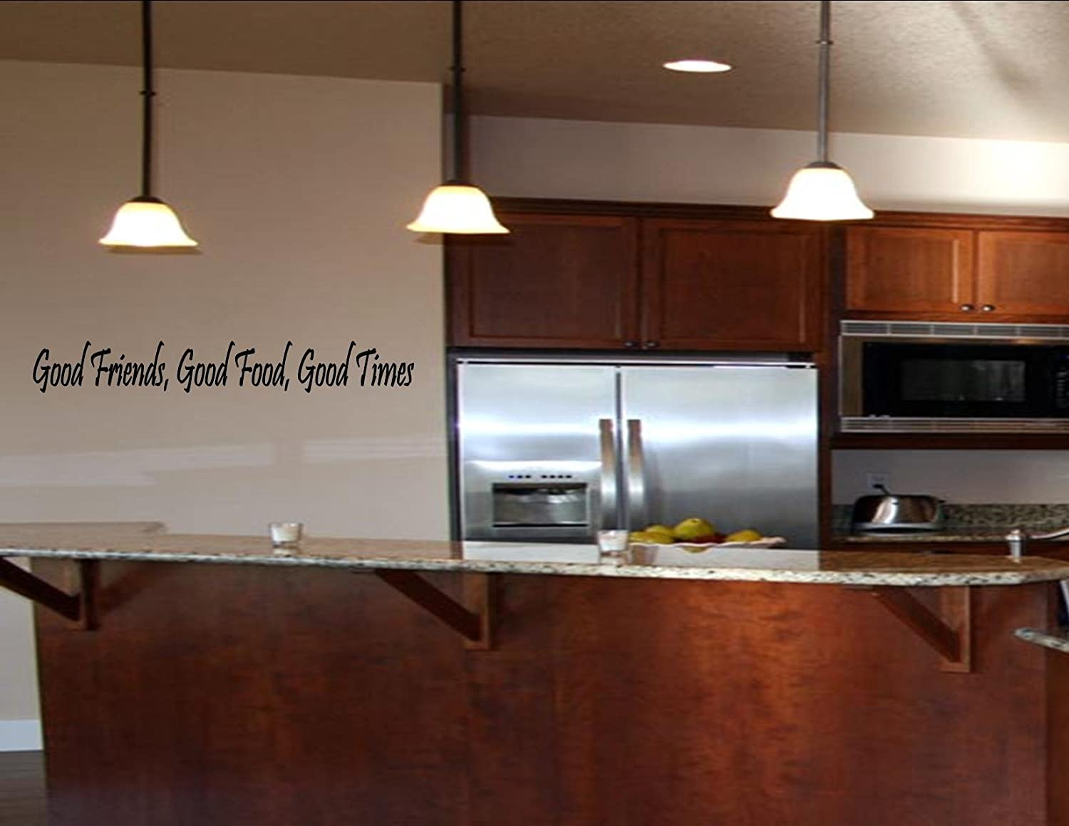 Amazon.com: GOOD FRIENDS, GOOD FOOD, GOOD TIMES Vinyl Wall Quotes And  Sayings Home Art De...: Home U0026 Kitchen