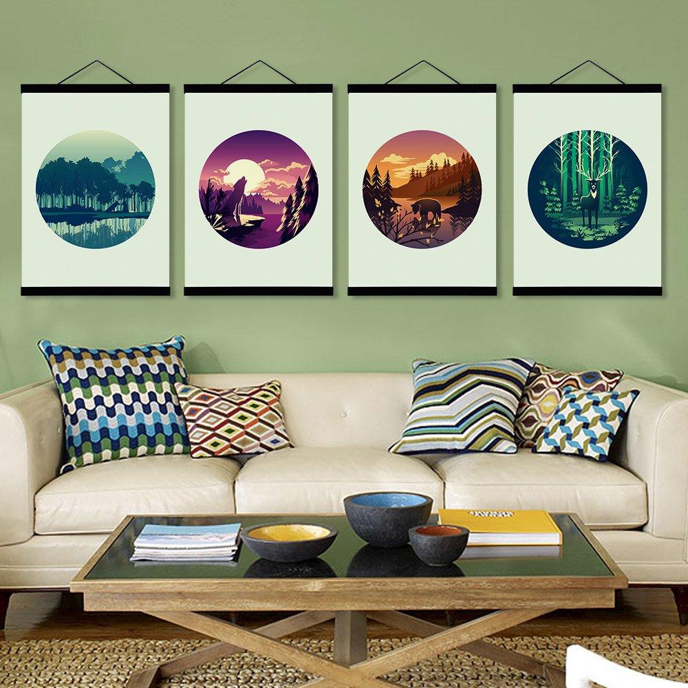 Natürliches hölzernes magnetisches Foto   Bild Bild Bild   Leinwandbild  Plakataufhänger für Innendekoration Wandkunst - Ramin Holz 80 cm mit Schnur B071R6FLGK | Hat einen langen Ruf  c1ba5a