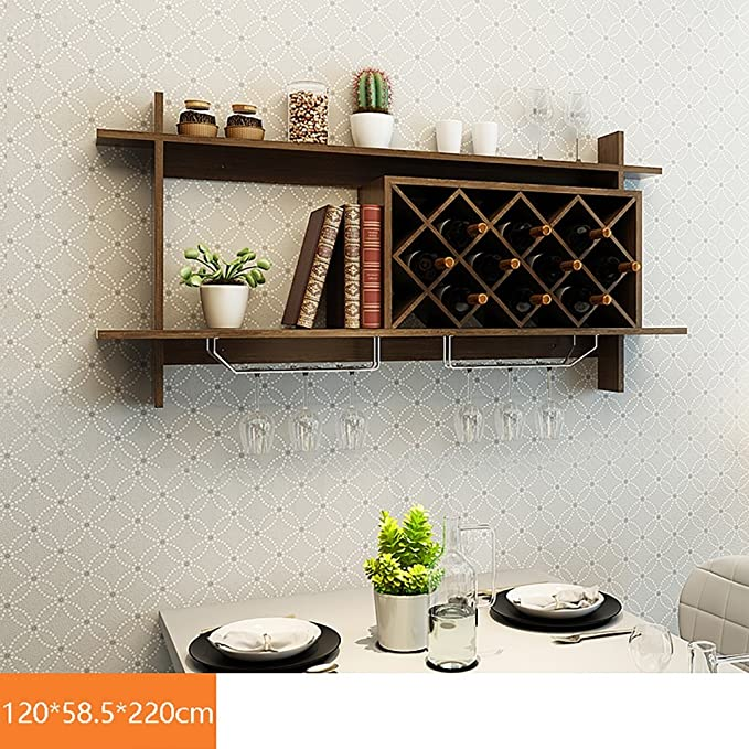 botelleros de vino Enrejado de vino moderno montado en la pared del ...