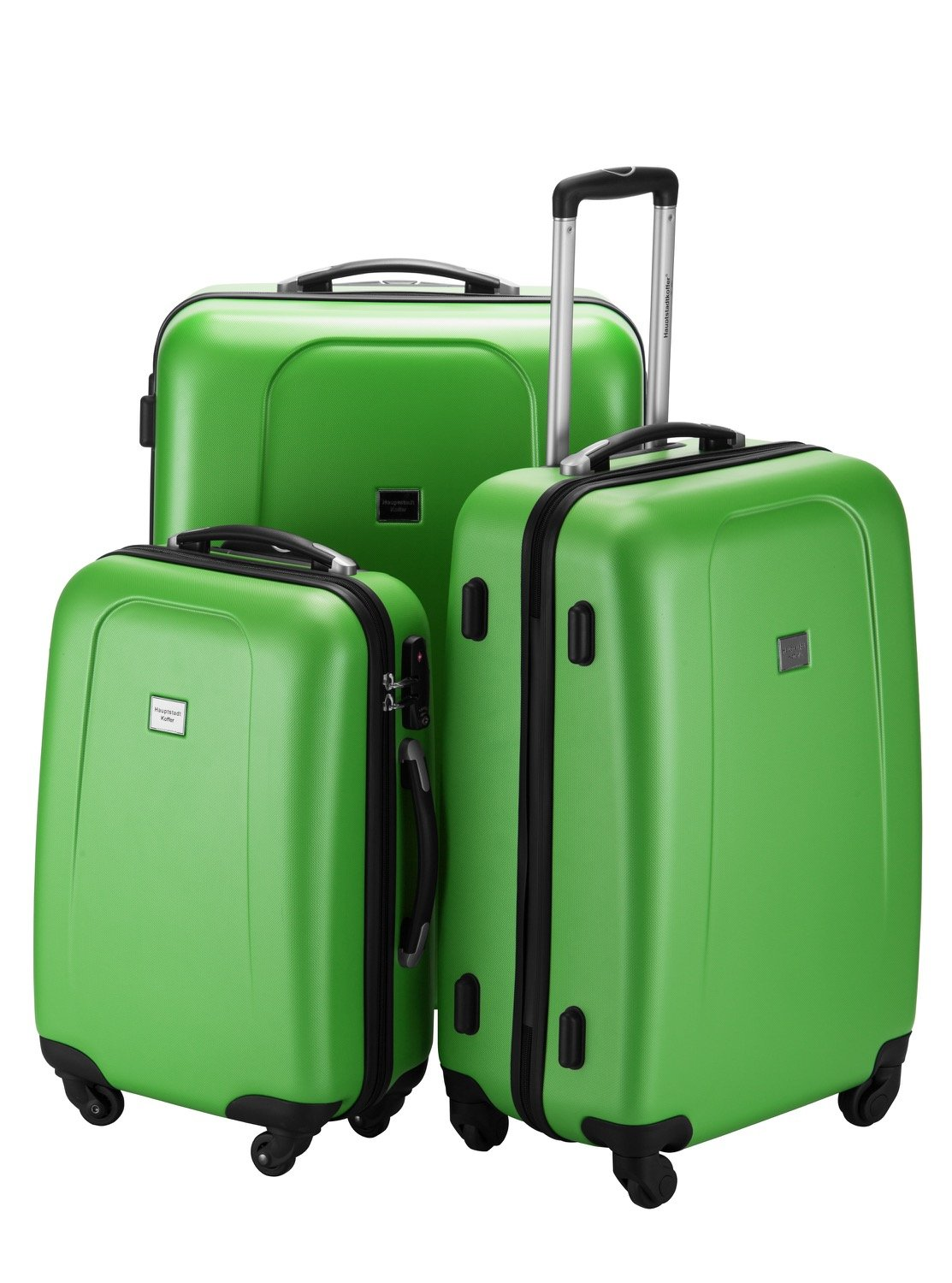 HAUPTSTADTKOFFER Wedding Hard-side Luggage set Glossy Suitcase Hardside Spinner Trolley Expandable (20¡°, 24¡° & 28¡°) TSA Applegreen