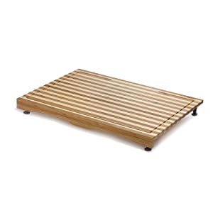 Prosumer's Choice Bamboo Stovetop Cover and Countertop Cutting Board w/Adjustable Legs – Large