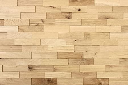Wood Wall Cladding Oak Rustic | 1m² Decorative 3D Wall Panels ...