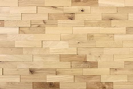wodewa Wandverkleidung Holz 3D Optik Eiche Rustikal 1m² Wandpaneele Moderne  Wanddekoration Holzverkleidung Holzwand Wohnzimmer Küche Schlafzimmer ...