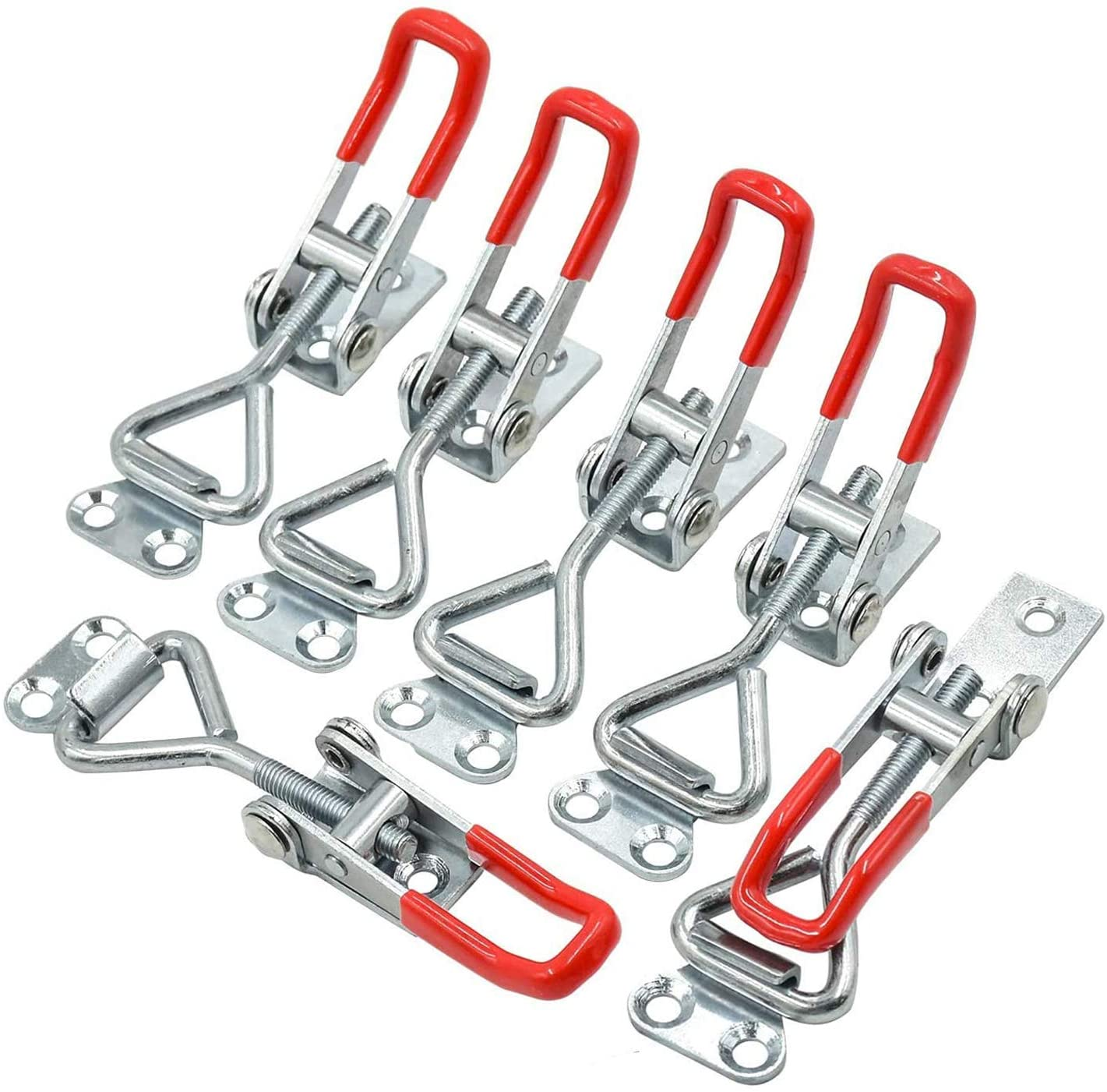 Rantecks 4PCS Toggle Clamp Adjustable Toggle Latch Clamp with Keyhole 180kg//396lbs Holding Capacity for Cabinet Boxes Trunk Door and Closet