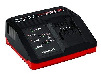 Einhell Cargador rápido Power-X-Change, Fuente de alimentación: 200 - 250 V ~ 50-60 Hz, Voltaje de salida: 10 - 21 V, Tiempo de carga de la batería, ...