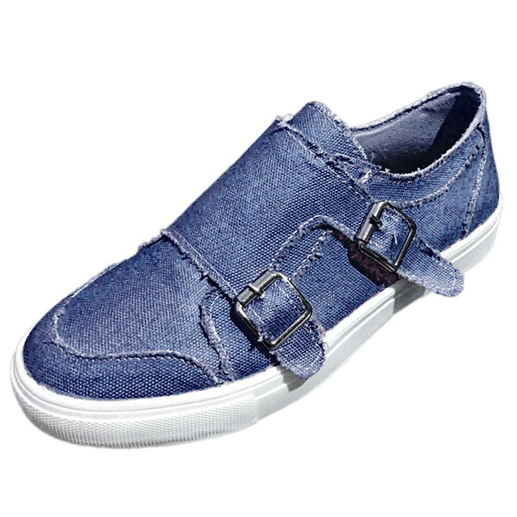 New Women Leather Shoes Loafers Soft Leisure Flats Female Casual Shoes Boat Shoes Flats (US:8, Blue) by Dunacifa Women Shoes
