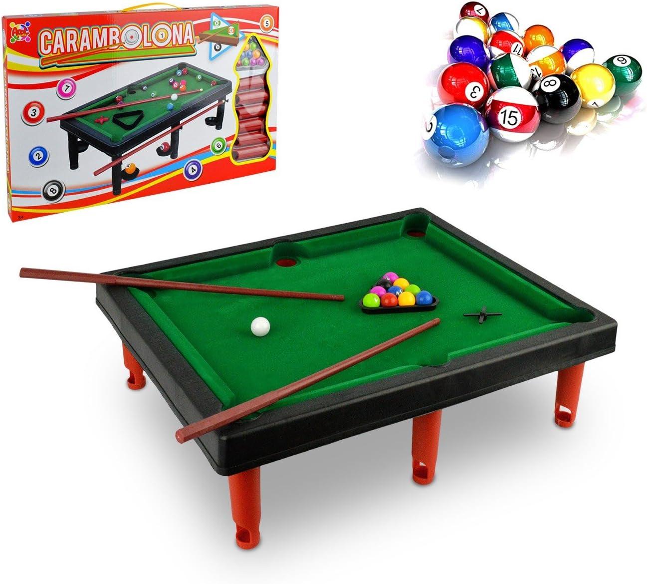 154615 Mini billar de juguete para niños con accesorios: Amazon.es ...