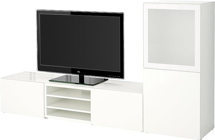 Ikea Besta Combinaison De Rangement Tv Portes En Verre