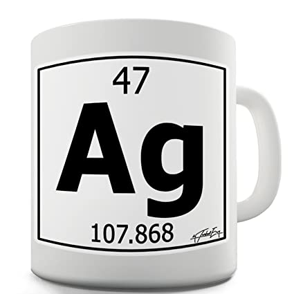 Amazon twisted envy periodic table of elements ag silver twisted envy periodic table of elements ag silver ceramic tea mug urtaz