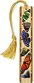 product image for Personalized Butterflies Colorful Wooden Bookmark with Tassel - Search B011PIWPM6 for Non-Personalized Version