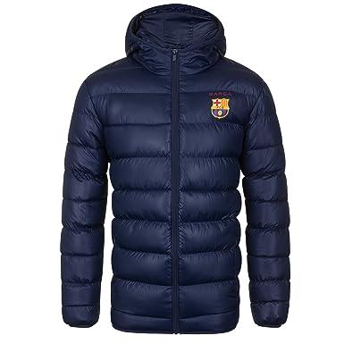 FC Barcelona - Plumífero acolchado oficial con capucha - Para ...