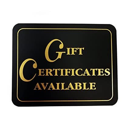 Amazon Custom Business Signs Gift Certificates Available