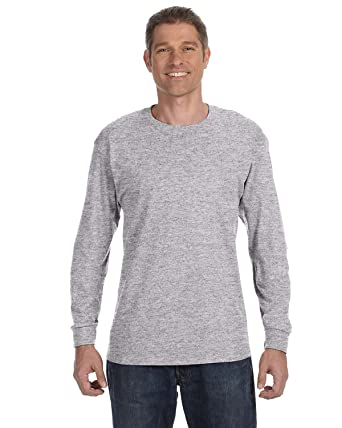 44372c42393 Image Unavailable. Image not available for. Color  Gildan Mens 5.3 oz.  Heavy Cotton Long-Sleeve T-Shirt ...
