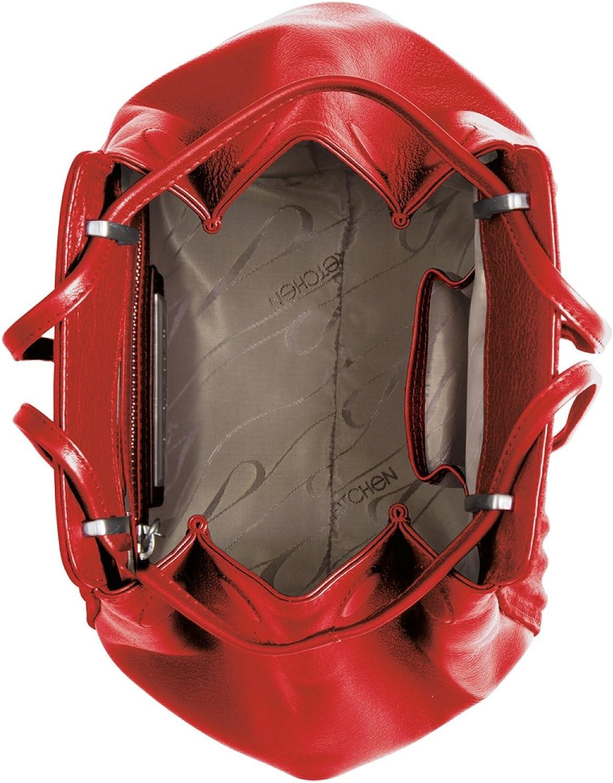 Gretchen - Bolso al hombro de Piel para mujer Multicolor - Fire Red Metalic Z6MQSUeL