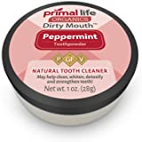 Dirty Mouth Organic Toothpowder #1 BEST RATED All Natural Dental Cleanser- Gently Polishes, Detoxifies, Re-Mineralizes, Strengthens Teeth - Peppermint (1 oz = 3mo Supply) - Primal Life Organics